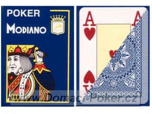 Modiano 100% Plast Poker Cristallo Jumbo Index - modré