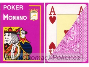 Modiano 100% Plast Poker Cristallo Jumbo Index - fialové
