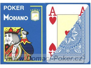 Modiano 100% Plast Poker Cristallo Jumbo Index - světle modré